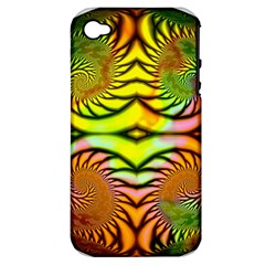 Fractals Ball About Abstract Apple iPhone 4/4S Hardshell Case (PC+Silicone)