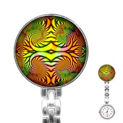 Fractals Ball About Abstract Stainless Steel Nurses Watch