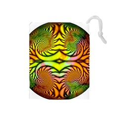 Fractals Ball About Abstract Drawstring Pouches (medium)
