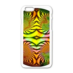 Fractals Ball About Abstract Apple iPhone 6/6S White Enamel Case