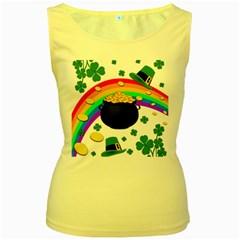 Good luck Women s Yellow Tank Top