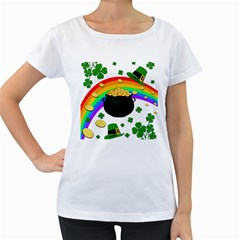 Good luck Women s Loose-Fit T-Shirt (White)