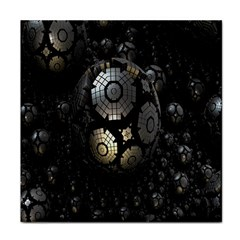 Fractal Sphere Steel 3d Structures Tile Coasters