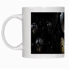 Fractal Sphere Steel 3d Structures White Mugs