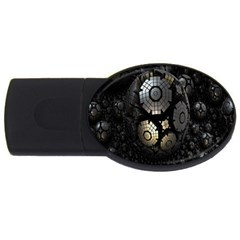 Fractal Sphere Steel 3d Structures USB Flash Drive Oval (1 GB)