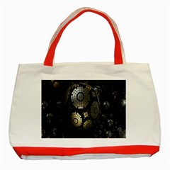 Fractal Sphere Steel 3d Structures Classic Tote Bag (Red)