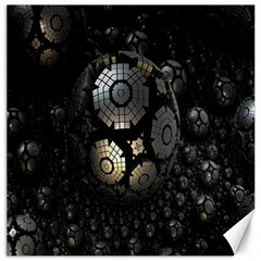 Fractal Sphere Steel 3d Structures Canvas 16  x 16