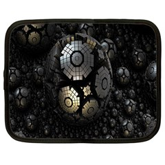 Fractal Sphere Steel 3d Structures Netbook Case (Large)
