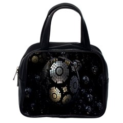 Fractal Sphere Steel 3d Structures Classic Handbags (One Side)