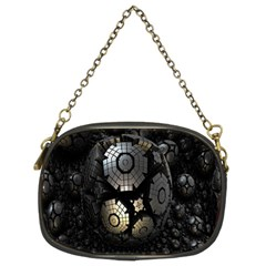 Fractal Sphere Steel 3d Structures Chain Purses (Two Sides)