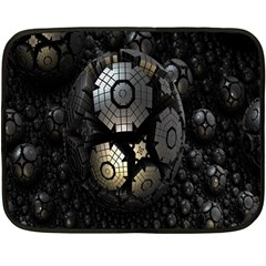 Fractal Sphere Steel 3d Structures Fleece Blanket (Mini)