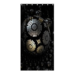 Fractal Sphere Steel 3d Structures Shower Curtain 36  X 72  (stall)