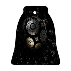 Fractal Sphere Steel 3d Structures Bell Ornament (two Sides)