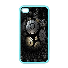Fractal Sphere Steel 3d Structures Apple Iphone 4 Case (color)
