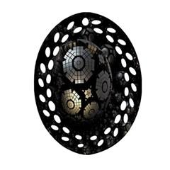 Fractal Sphere Steel 3d Structures Ornament (Oval Filigree)