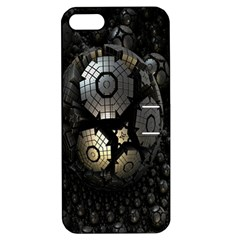 Fractal Sphere Steel 3d Structures Apple Iphone 5 Hardshell Case With Stand