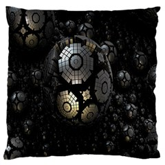 Fractal Sphere Steel 3d Structures Standard Flano Cushion Case (Two Sides)