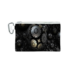 Fractal Sphere Steel 3d Structures Canvas Cosmetic Bag (S)