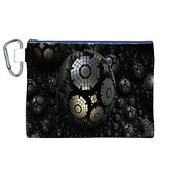 Fractal Sphere Steel 3d Structures Canvas Cosmetic Bag (XL)