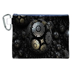 Fractal Sphere Steel 3d Structures Canvas Cosmetic Bag (xxl)