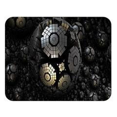 Fractal Sphere Steel 3d Structures Double Sided Flano Blanket (large)