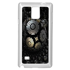Fractal Sphere Steel 3d Structures Samsung Galaxy Note 4 Case (White)