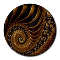 Fractal Spiral Endless Mathematics Round Mousepads