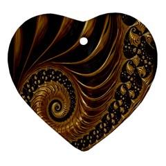 Fractal Spiral Endless Mathematics Ornament (Heart)