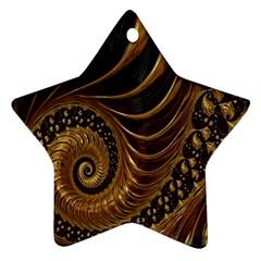 Fractal Spiral Endless Mathematics Ornament (Star)