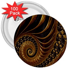 Fractal Spiral Endless Mathematics 3  Buttons (100 pack)
