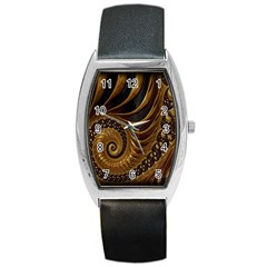 Fractal Spiral Endless Mathematics Barrel Style Metal Watch