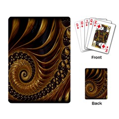 Fractal Spiral Endless Mathematics Playing Card