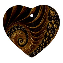 Fractal Spiral Endless Mathematics Heart Ornament (Two Sides)