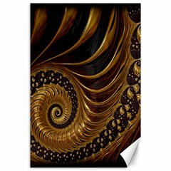 Fractal Spiral Endless Mathematics Canvas 24  X 36