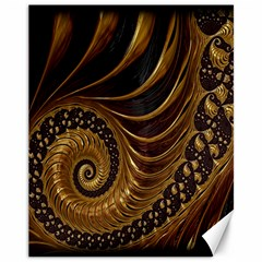 Fractal Spiral Endless Mathematics Canvas 11  x 14
