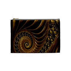 Fractal Spiral Endless Mathematics Cosmetic Bag (Medium)