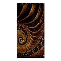 Fractal Spiral Endless Mathematics Shower Curtain 36  x 72  (Stall)