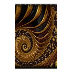 Fractal Spiral Endless Mathematics Shower Curtain 48  x 72  (Small)