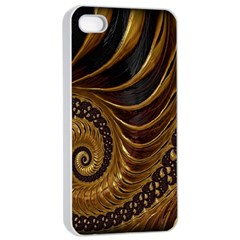 Fractal Spiral Endless Mathematics Apple Iphone 4/4s Seamless Case (white)