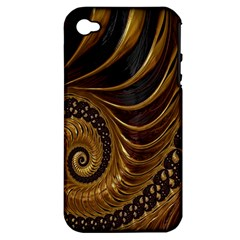 Fractal Spiral Endless Mathematics Apple Iphone 4/4s Hardshell Case (pc+silicone)