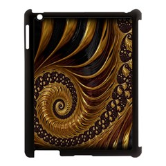 Fractal Spiral Endless Mathematics Apple iPad 3/4 Case (Black)