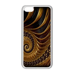 Fractal Spiral Endless Mathematics Apple Iphone 5c Seamless Case (white)