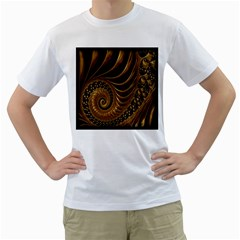 Fractal Spiral Endless Mathematics Men s T-Shirt (White)