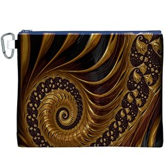 Fractal Spiral Endless Mathematics Canvas Cosmetic Bag (XXXL)