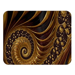 Fractal Spiral Endless Mathematics Double Sided Flano Blanket (large)