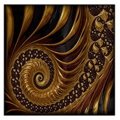 Fractal Spiral Endless Mathematics Large Satin Scarf (square)