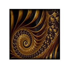 Fractal Spiral Endless Mathematics Small Satin Scarf (Square)