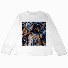 Frost Leaves Winter Park Morning Kids Long Sleeve T-Shirts