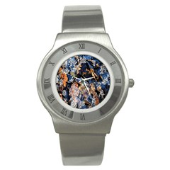 Frost Leaves Winter Park Morning Stainless Steel Watch