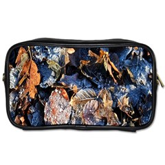 Frost Leaves Winter Park Morning Toiletries Bags
